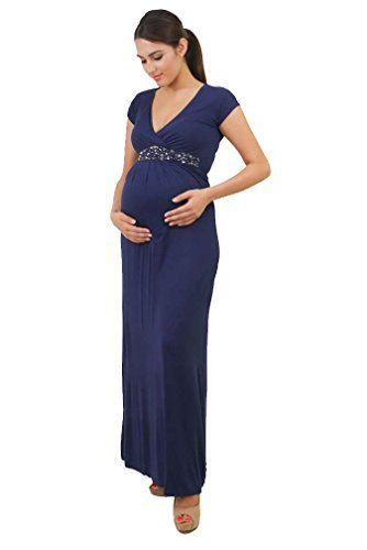 7d72d30a4e311 Annee Matthew Bianca Maternity Nursing Formal Maxi Dress ... http://www