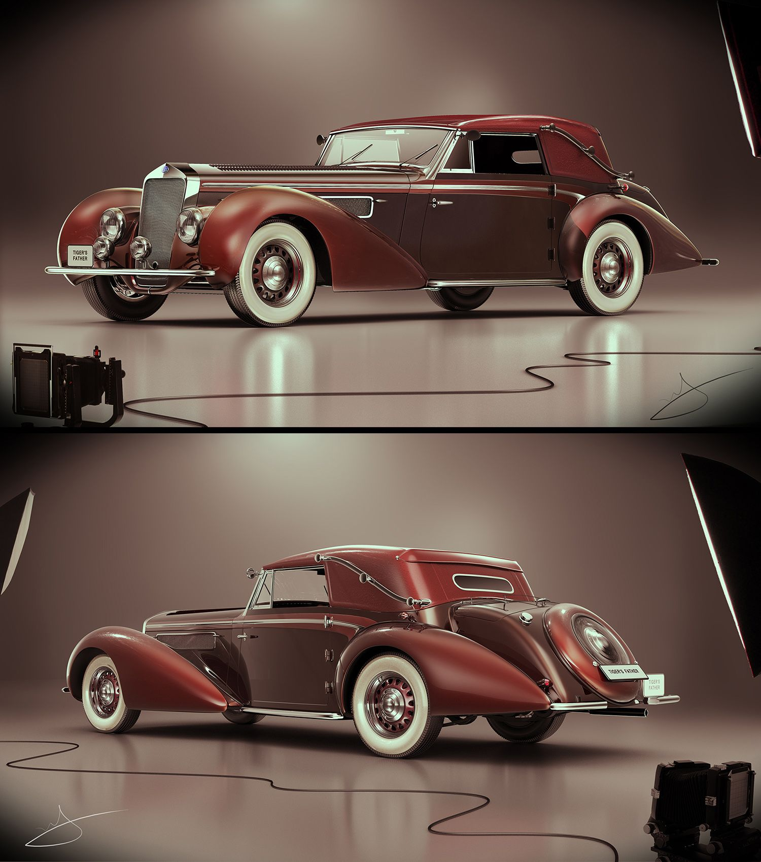 1939 Delage D8 120 Cabriolet Chapron by Tigersfather