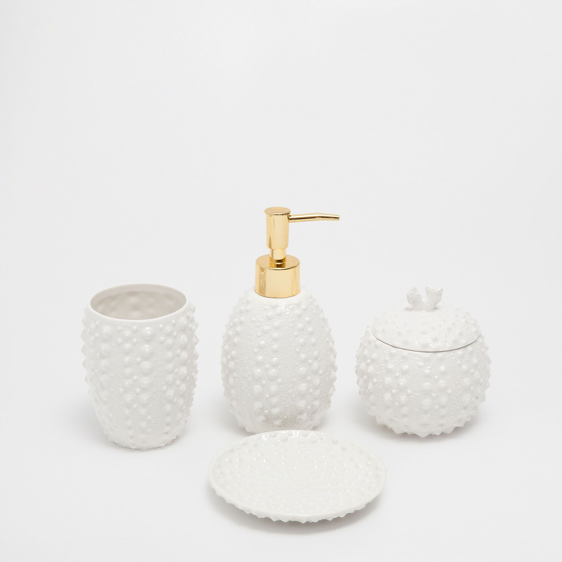 MARINE RAISED CERAMIC BATHROOM SET | Bathroom | Pinterest