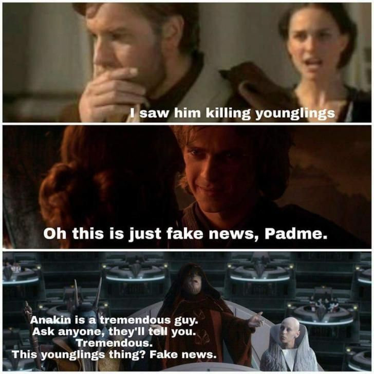 Anakin Didn T Kill Those Younglings Star Wars Quotes Star Wars Humor Star Wars Facts