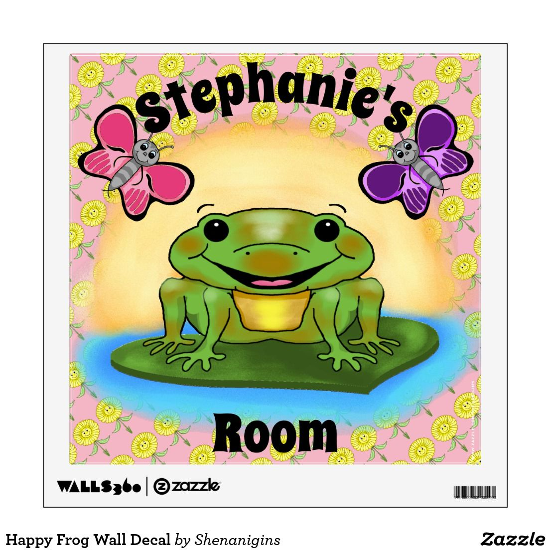 Happy Frog Wall Decal | Wall Decals | Pinterest | Wall decals ...