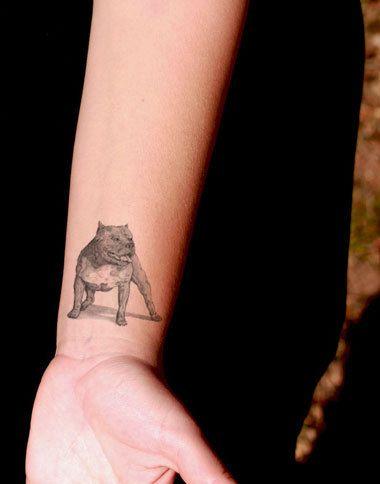 3fc13d8fb Pitbull Dog Temporary Tattoo SomaArtTattoo by SomaArtTattoo   Pittie ...