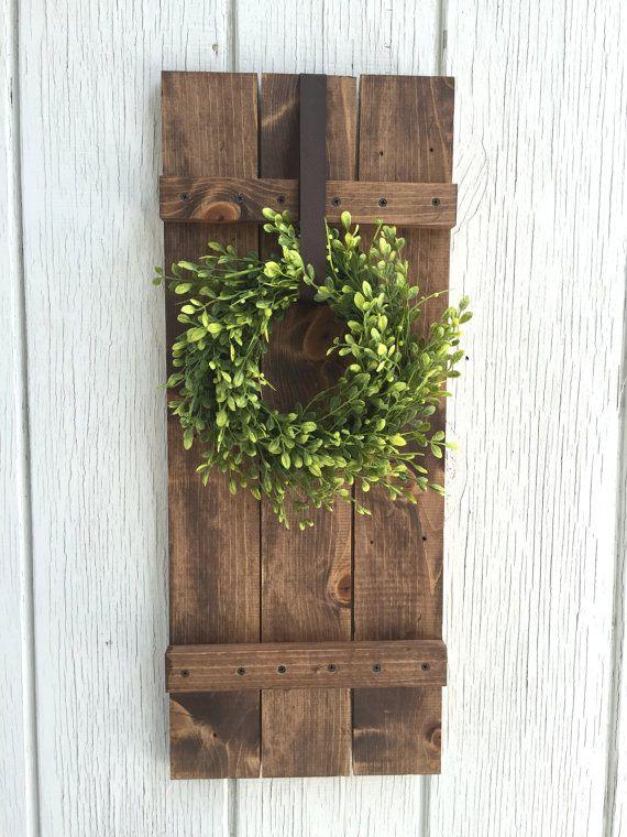 Farmhouse Shutter Wall Decor Rustic By KeywheatKreations