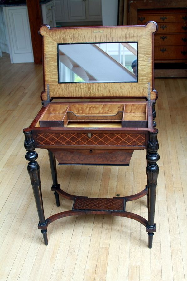Antique Sewing Table - Lovely! Antique Sewing Table Antique Needlework Tools Pinterest