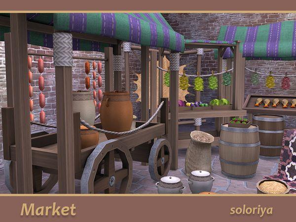 Meubles et objets pour créer un marché Médiéval (achat