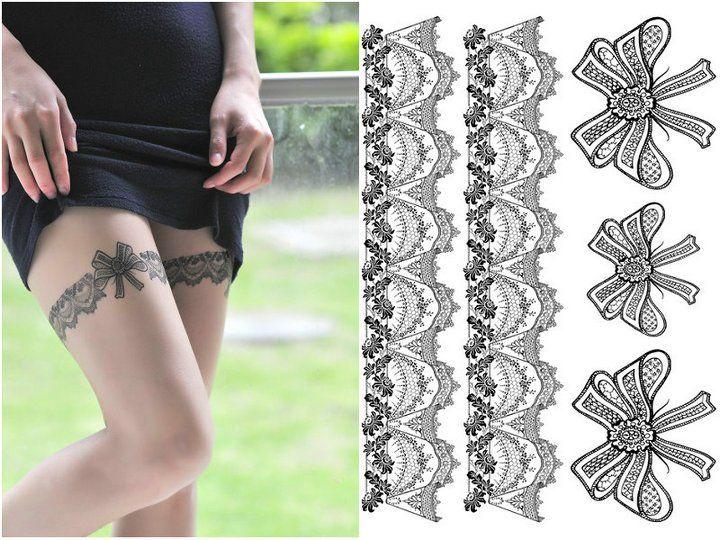 Lace Garter Tattoo - Bing Imágenes | piparkakkutalot | Pinterest ...