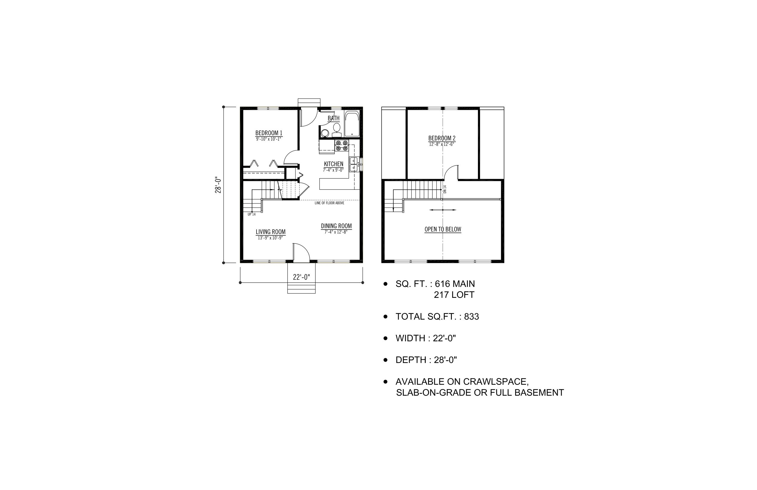 the babine prefab cabin and cottage plans winton homes build