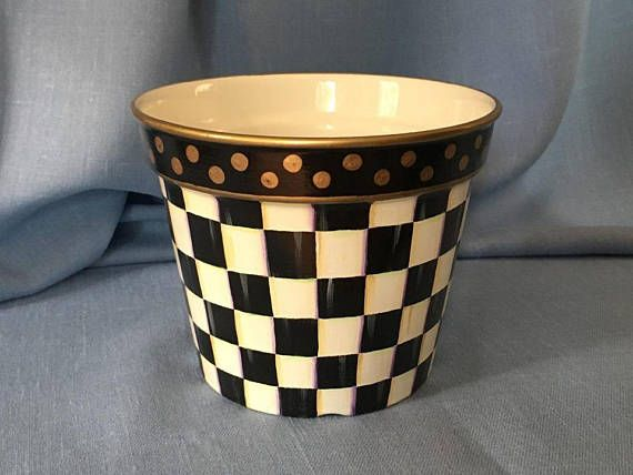 Your Place To Buy And Sell All Things Handmade Painted Ceramic Planter Ceramic Planters Painted Flower Pots