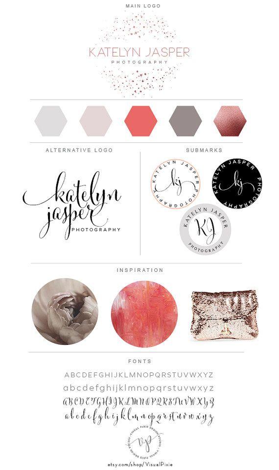 u00e0 vendre  de jolis logo et branding pour votre entreprise  un design soign u00e9 et f u00e9minin   u00e0