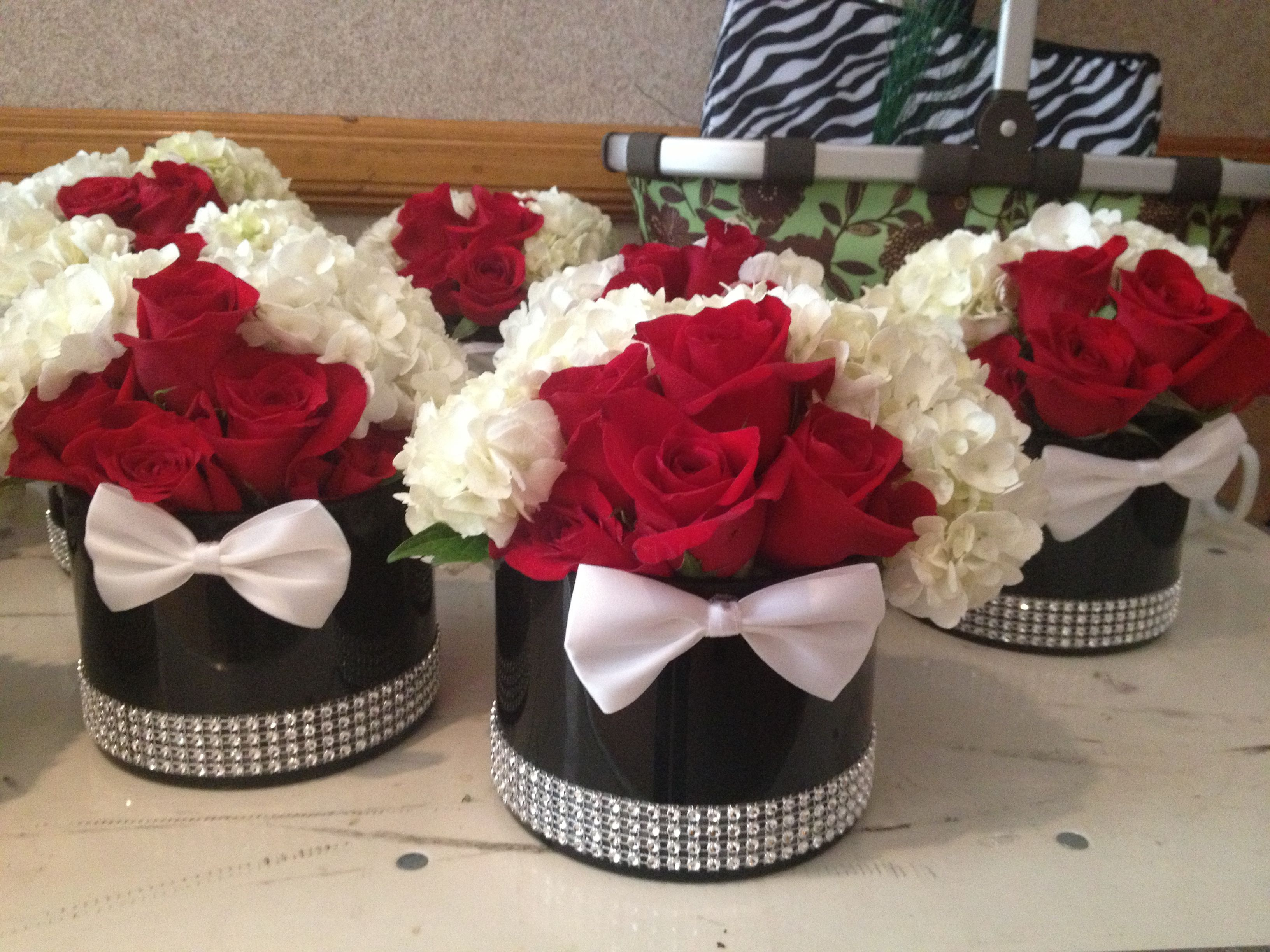 James bond themed short centerpieces with bow ties for Mesas de centro black friday