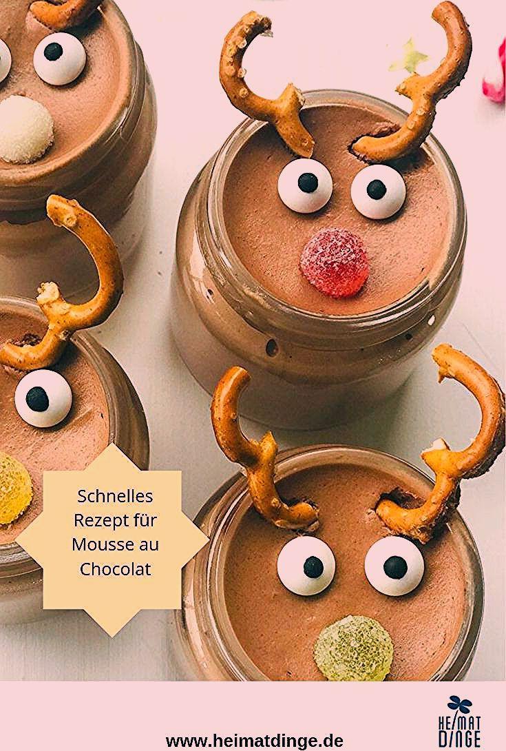 Photo of Weihnachtsdessert im Glas: leckeres Rezept Rudolph Mousse au Chocolat –