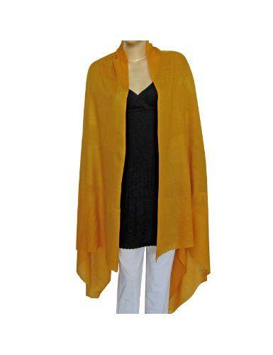 133620e02c6 Accessoire fashion pour hiver - Châle pur laine jaune or - Mode femme 203  cm X 91 cm  Amazon.fr  Vêtements et accessoires