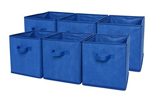 SODYNEE Foldable Cloth Basket Cube Storage Bins Set Provides Attractive,  Lightweight Solution To Many Storage Needs Great For Games, Toys, Art U0026  Craft Supp