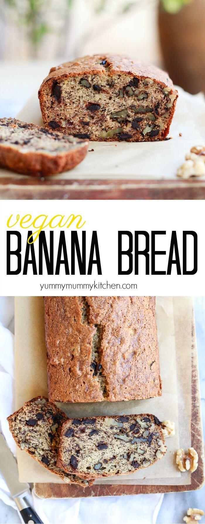 Vegan Banana Bread  Recipe  Vegan Banana Bread, Banana -5305
