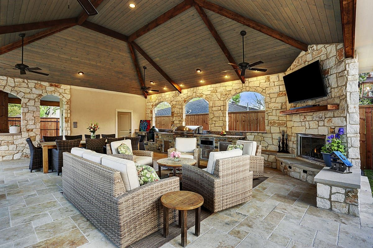 Expanded Outdoor Living Area In Houston Outdoor Living Areas Outdoor Kitchen Plans Outdoor Living