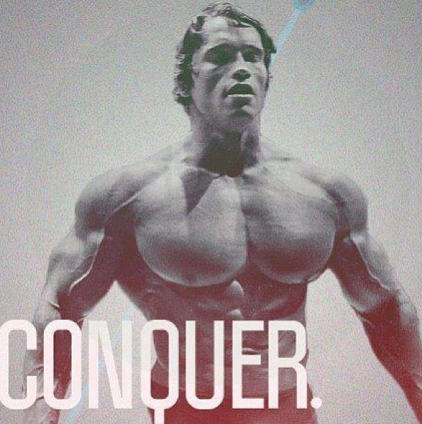 Conquer Schwarzenegger Bodybuilding Bodybuilding Motivation Arnold Schwarzenegger Bodybuilding