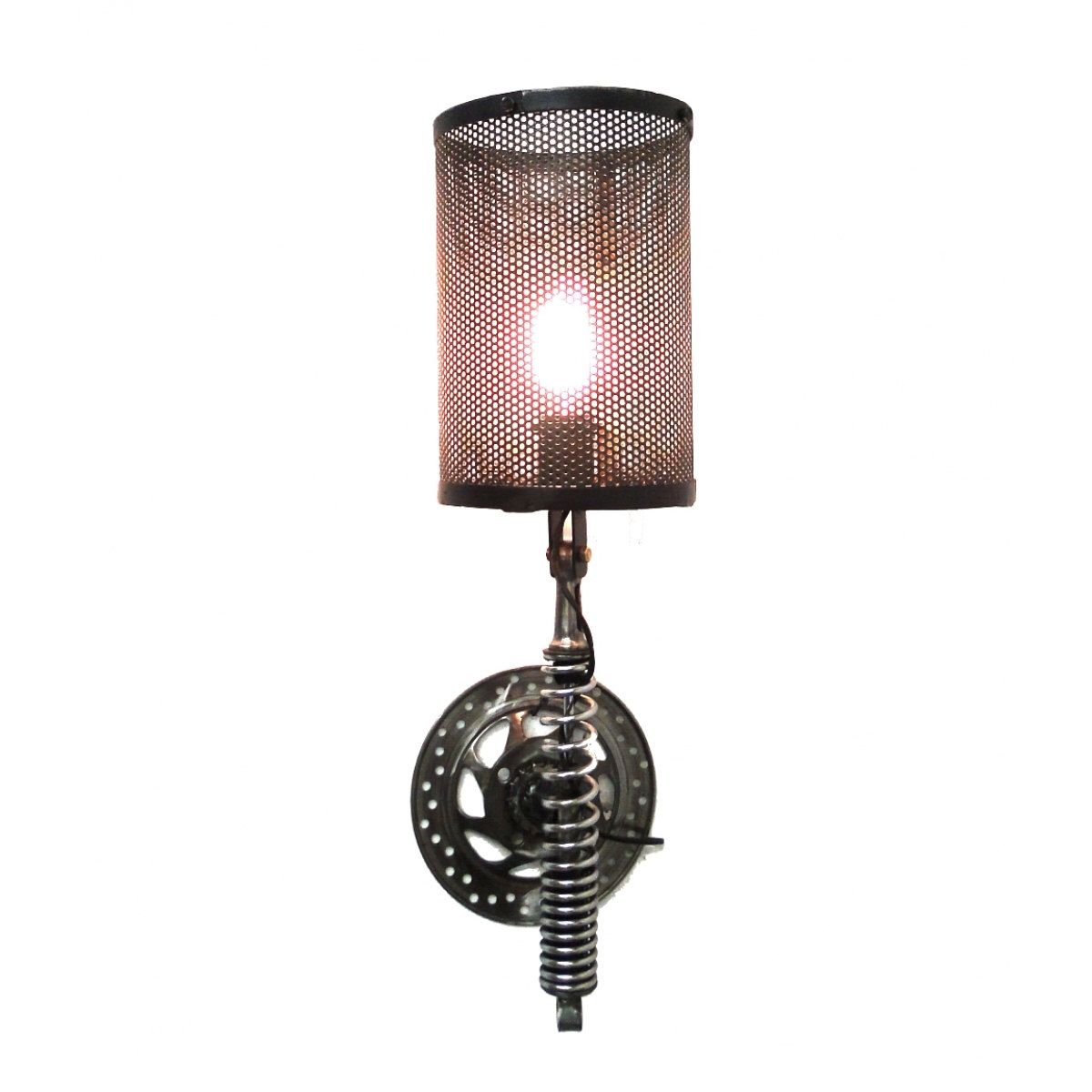 Wall Mount Motorcycle Clutch & Spring Sconce Light Fixture Antique ...