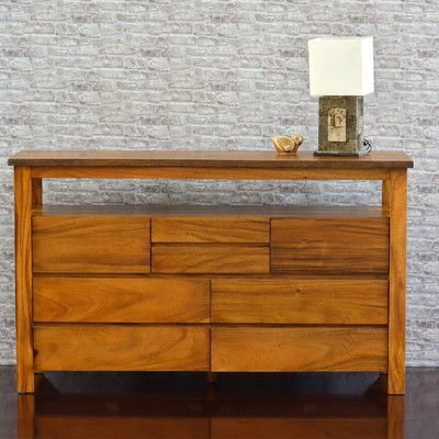 222 Fifth Furniture Cayu Live Edge 8 Drawer Dresser
