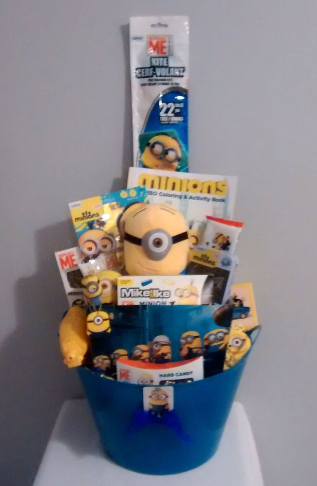 Handmade minion gift basket ebay sale easter gift baskets and ebay 50 ebay sale handmade minion gift basket minions negle Images
