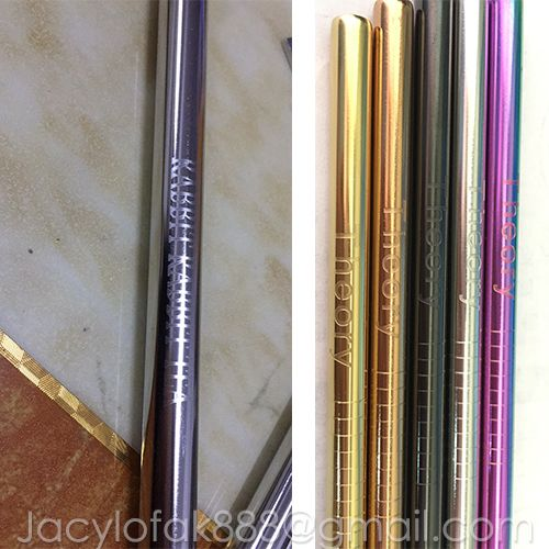 Engraving LOGO, laser LOGO ,Fda-approved Reusable straws