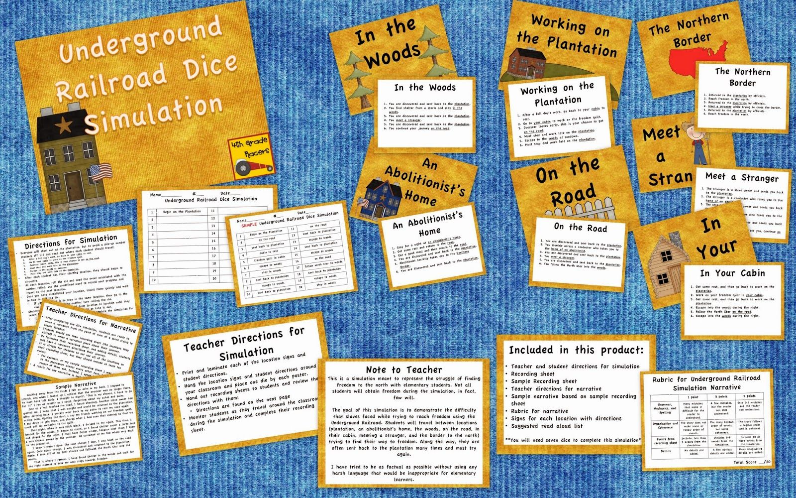 An Underground Railroad Dice Simulation Game It S Awesome Especially Since Not All Of The Kids