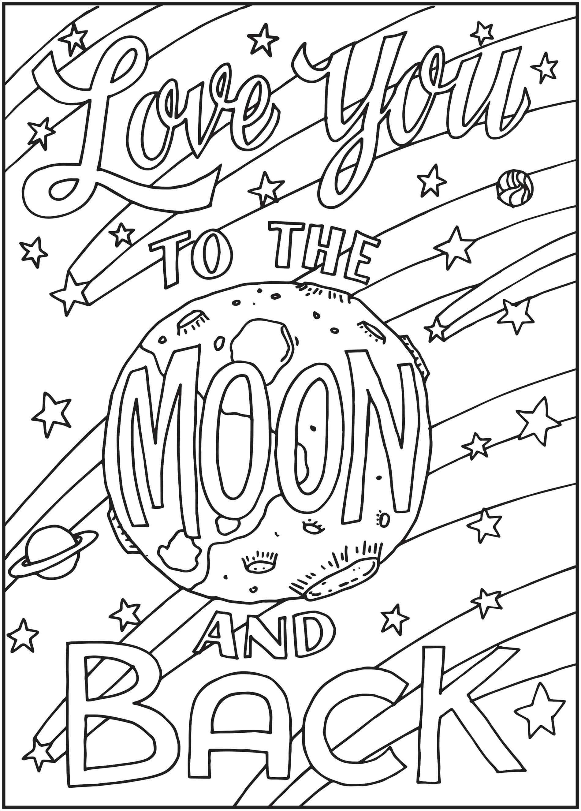 Pnterest books best i love you moon and back, love you coloring pages