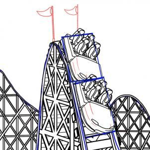 How To Draw A Roller Coaster By Koreacow Achtbaan Pretparken