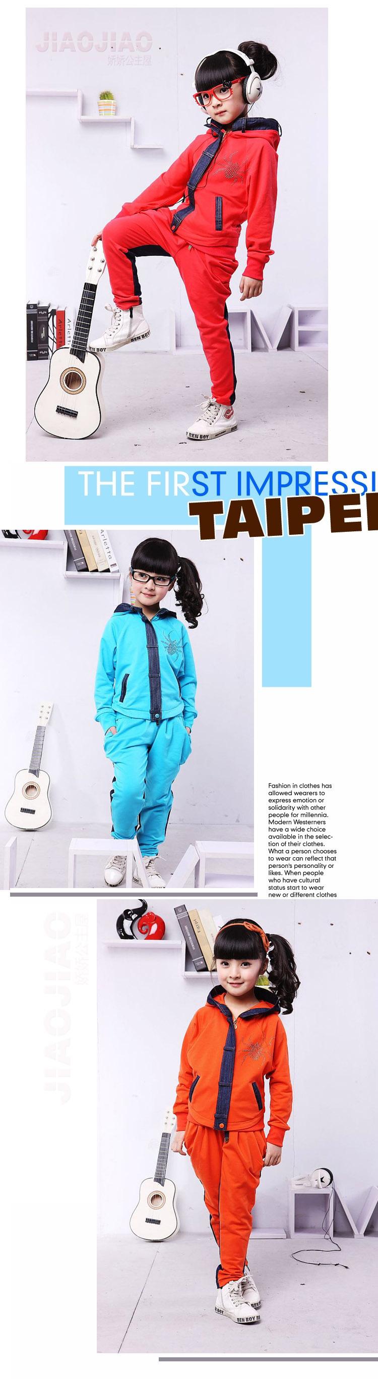 2015 новинка мода детская одежда комплект девочек ...
