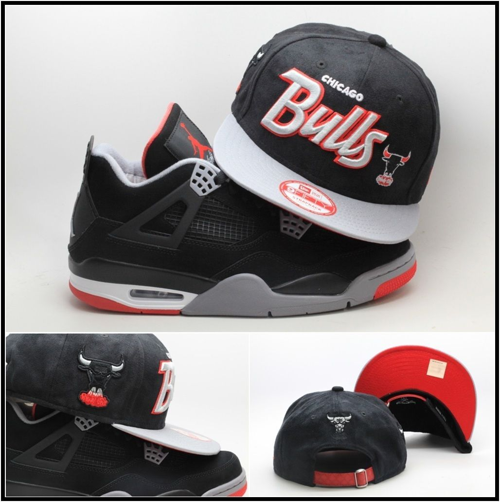 5523d6888a28d1 ... spain era chicago bulls custom strapback hat jordan retro 4 iv snapback  bred 11 xi 7a1b5