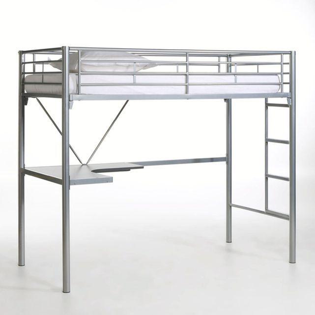 lit mezzanine avec bureau en m tal janik la redoute. Black Bedroom Furniture Sets. Home Design Ideas
