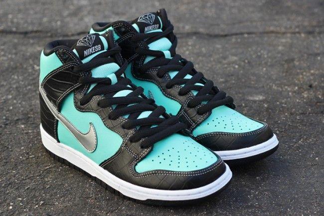 "Releasing in US: Diamond Supply Co. x Nike SB Dunk Hi ""Tiffany†- EU  Kicks: Sneaker Magazine"