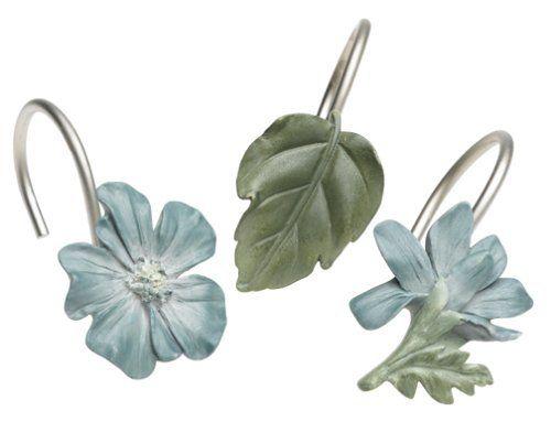 Shower curtain ring · Croscill Spa Leaf ...
