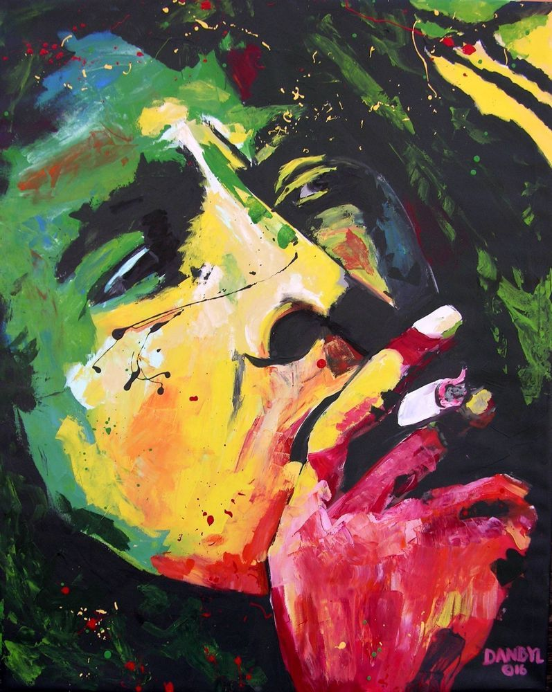 Bob Marley Original Reggae Art PAINTING Artist DAN BYL Contemporary ...