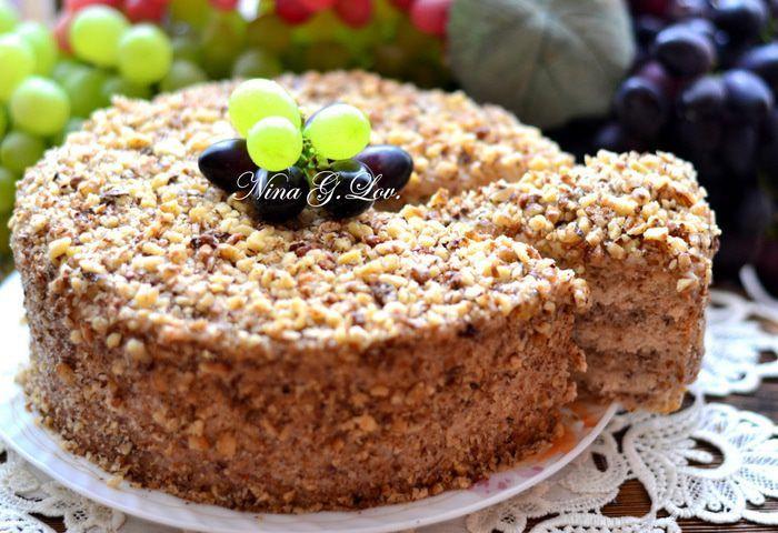 Торт «Грецкий орех» | Рецепт | Десерты, Торт и Кондитер