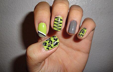 Yellow Gray Design Mix My Nails Pinterest