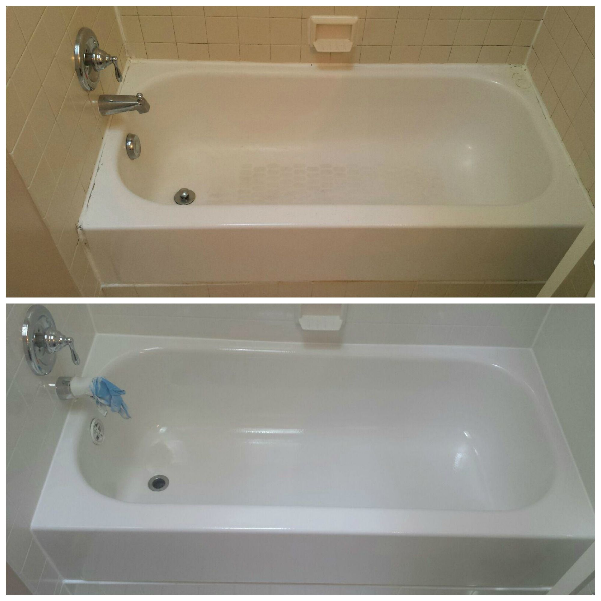 Fresh and clean bathtub resurface! | Our Work; Bathtub ...
