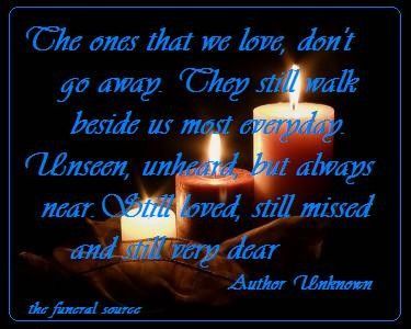 Memorial Quotes The Ones That We Love Don't Go Awaymorial Quotes  Pinterest .