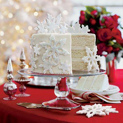 60 Showstopping Christmas Cake Recipes Christmas Cake Recipes Snowflake Wedding Cake White Cake Recipe