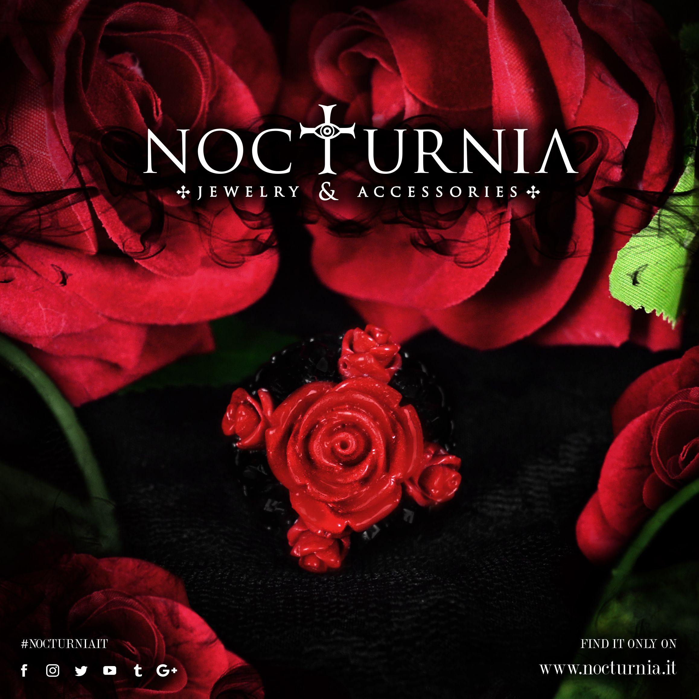 """The ring by Nocturnia """"CROSS OF ROSES"""" is available here http://bit.ly/crossofroses Worldwide Shipping #nocturniait"""