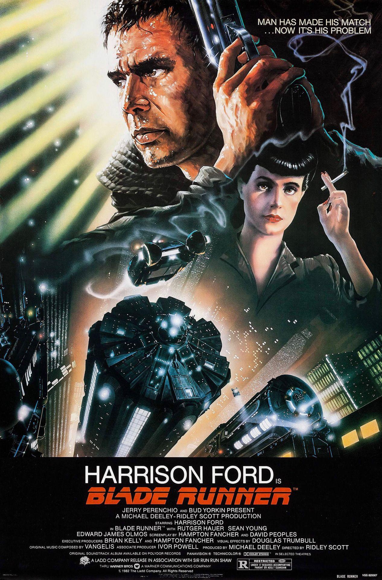 Poster for Blade Runner, 1982. Artwork by John Alvin. -