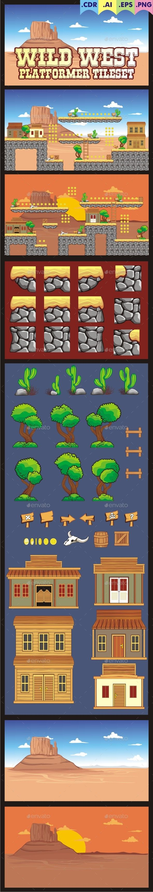 A set of vector game asset / graphic / sprite / art