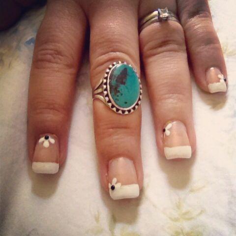 "elegant but simple nail art sally hansen ""white on"