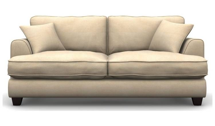 Cool Buy Argos Home Hampstead 3 Seater Fabric Sofa Beige Download Free Architecture Designs Terstmadebymaigaardcom