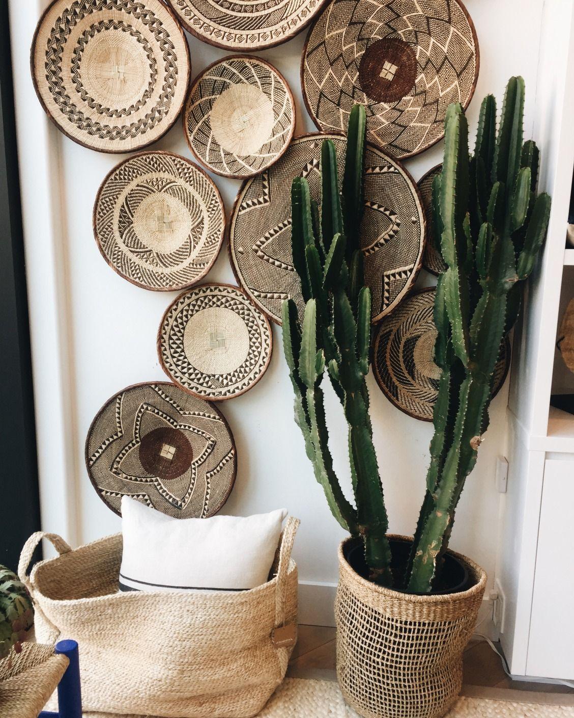Matières naturelles : paille, raphia, rotin, bois s'invitent dans la décoration - Côté Maison