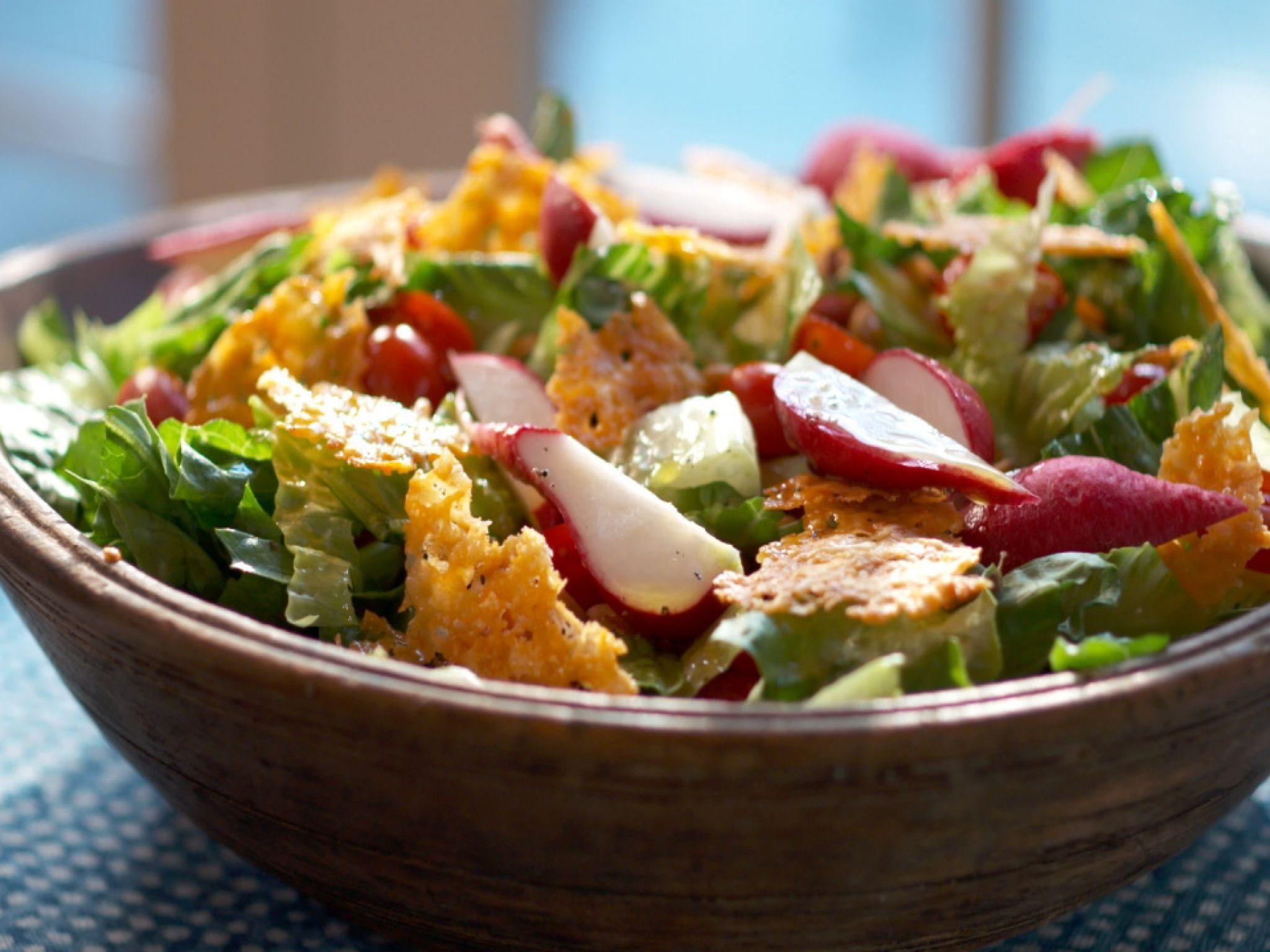 Romaine Salad with Parmesan Crisps Recipe Parmesan