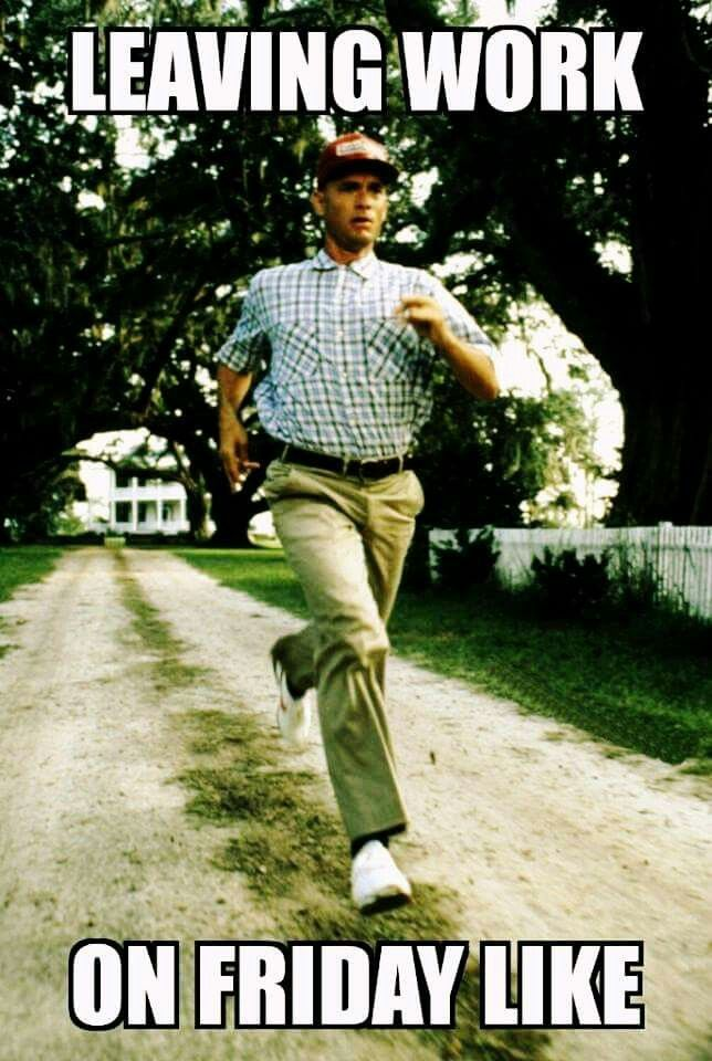 eb76294a8e7bb hahah leaving work on friday like forrest gump | Humorous | Forrest ...