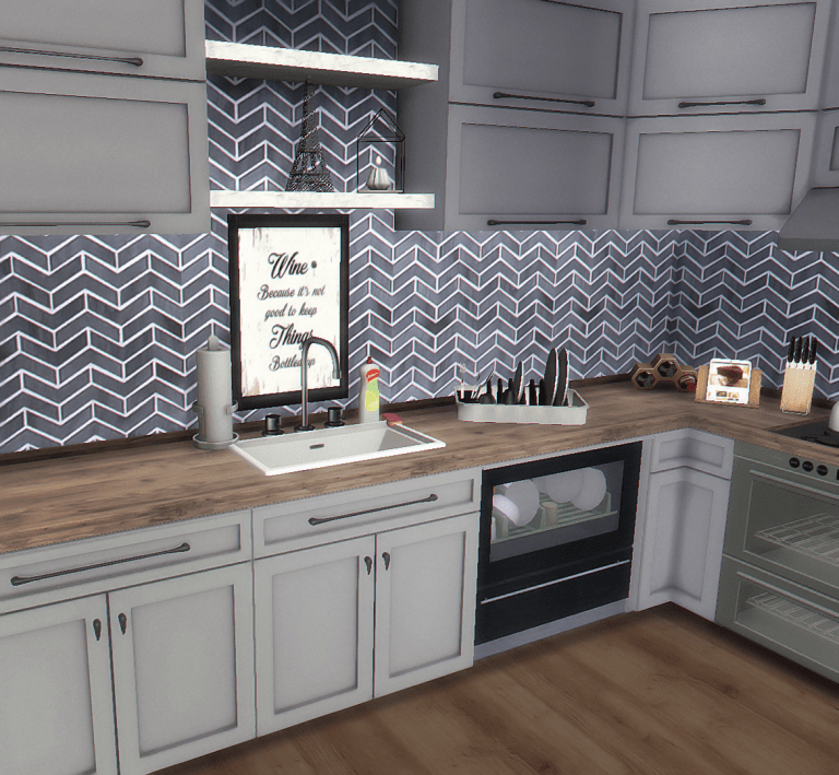 Laundry, Kitchen, Bathroom Wall Art (With images) | Sims 4 ...