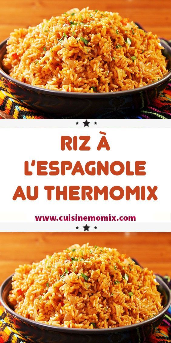 Photo of Recette Riz à l'espagnole au thermomix