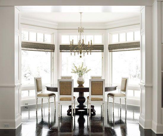 Window Design Ideas Bay Windows Dining Room Window Treatments