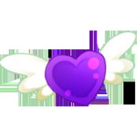 Pin Corazon Violeta Corazones Juegos De Amor Corazon De Melon